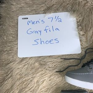 Men's Fila Gray Sneakers size 7 12